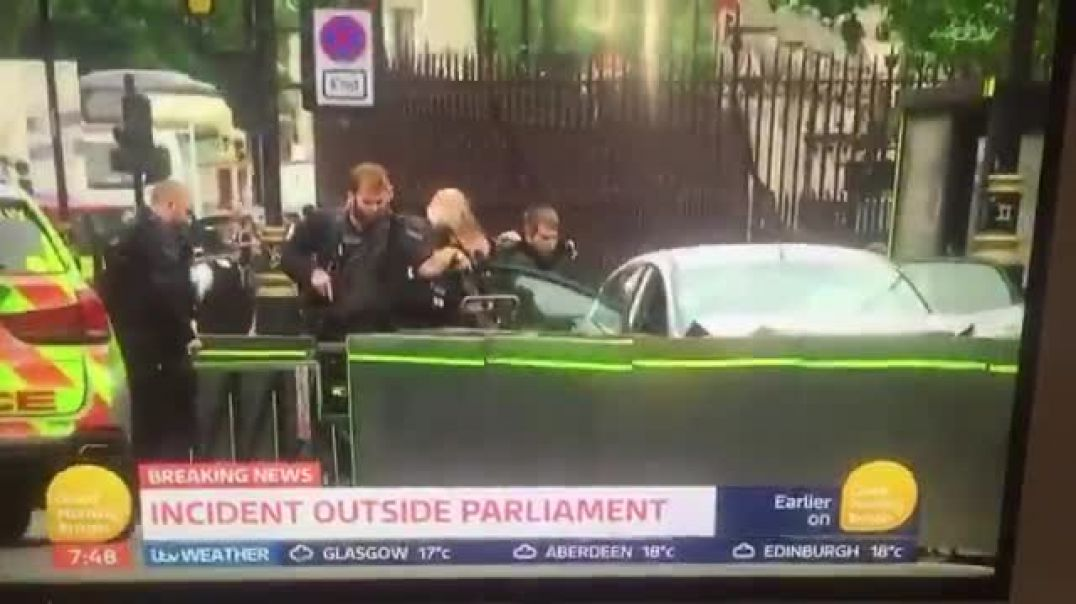 Incident outside Parliament! Man arrested and taken away by armed police!!