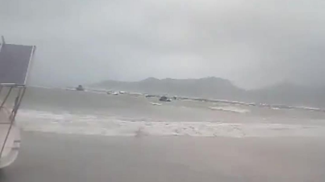 Footage as cyclone hits Methoni southern Peloponnese on Saturday