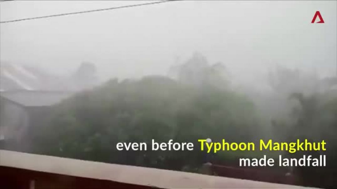 WATCH Northern Philippines is being whipped by strong winds and rain ahead o