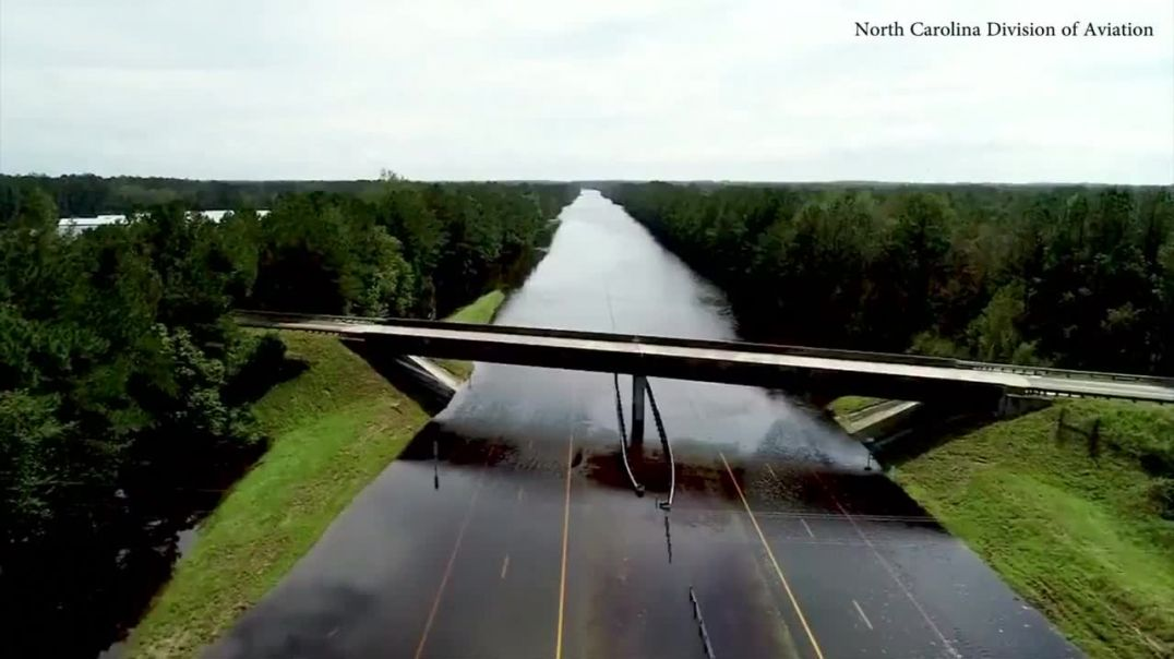 River or road Amazing images show I-40 covered in water