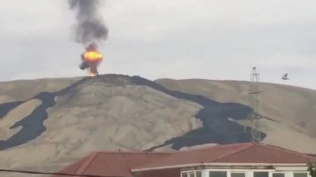 Otman-Bozdagh volcano just erupted in Baku for fifth time in last two years.