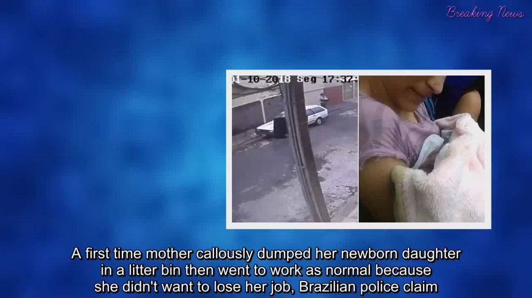 New mother abandons her one-day-old baby in a rubbish bin.mp4