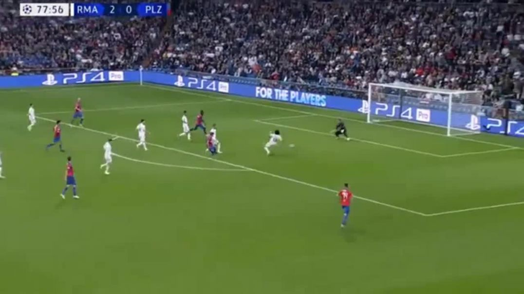 Patrik Hrošovský Goal Real Madrid vs Viktoria Plzen 2-1.mp4
