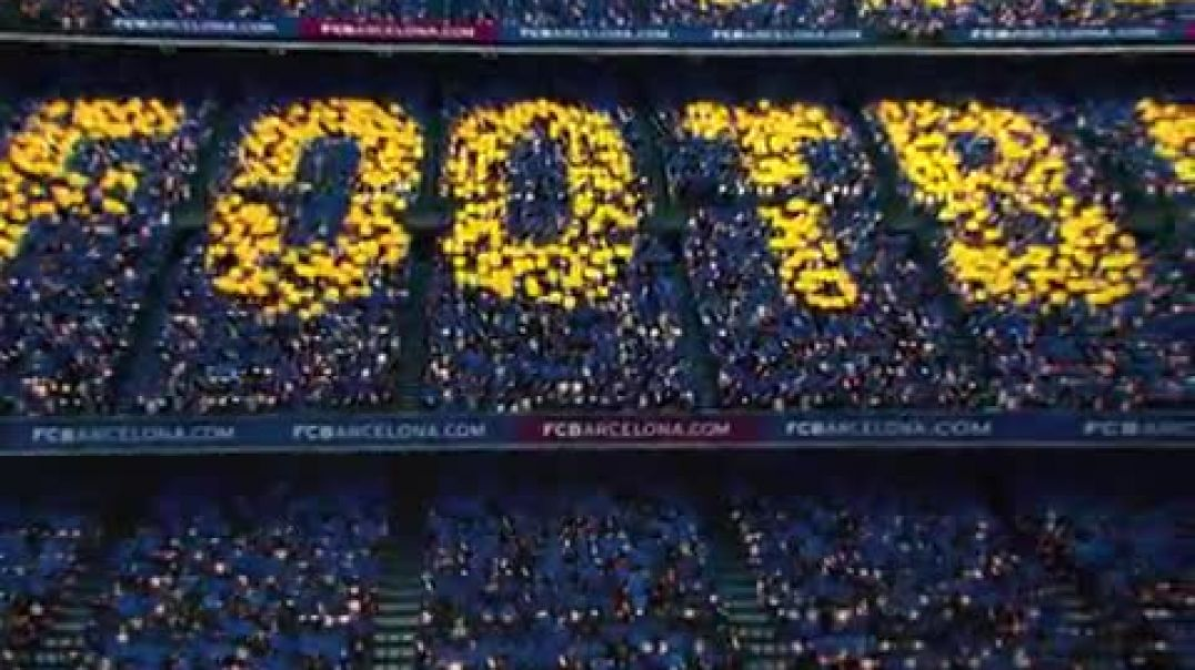 Barcelona unveil their tifo for this weekends Clasico - - via @FCBarcelona