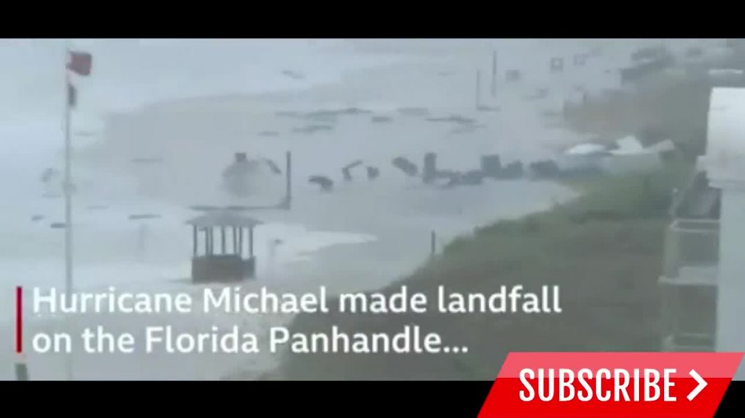 Hurricane MichaelHow Hurricane Michael is battering the US  Videos show destruction in US.mp4