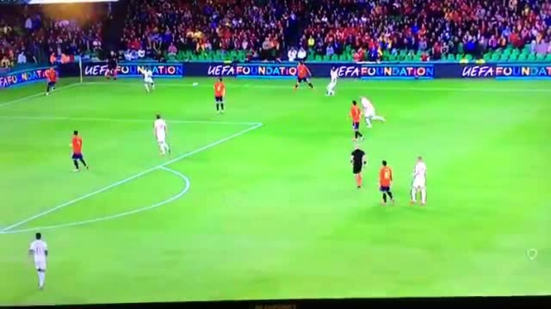 Eric Dier vs Sergio Ramos with one of the most fabulously pointless clatterings ever seen.