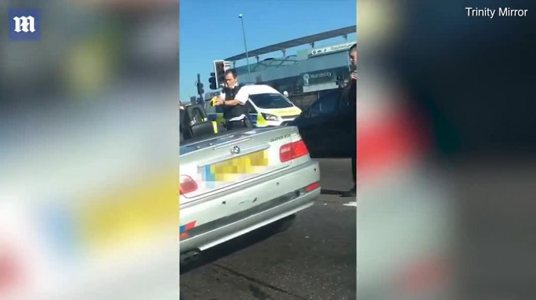 Police 'Taser road rage driver after he got so angry he smashed up his OWN....mp4