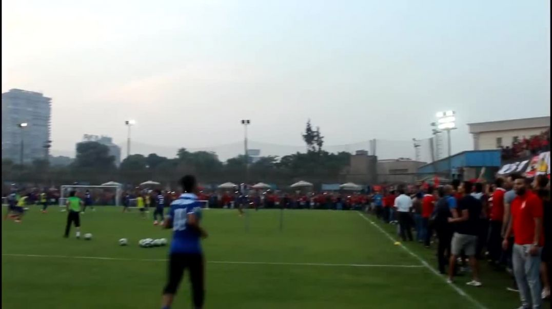 Incredible Al Ahly Fans during training