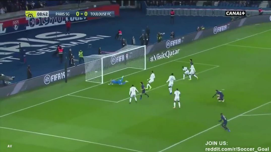 Edinson Cavani Goal HD - Paris SG 1 - 0 Toulouse - 24.11.2018 (Full Replay).mp4