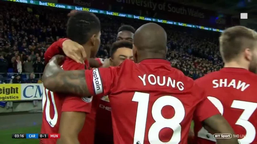 Rashford Goal vs Cardiff 1-0 Man united vs Cardiff Live.mp4