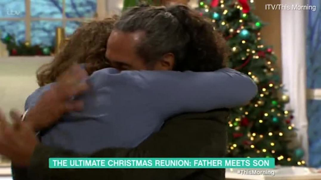 Father, 66, embraces the 28-year-old son he had NEVER met in an emotional....mp4