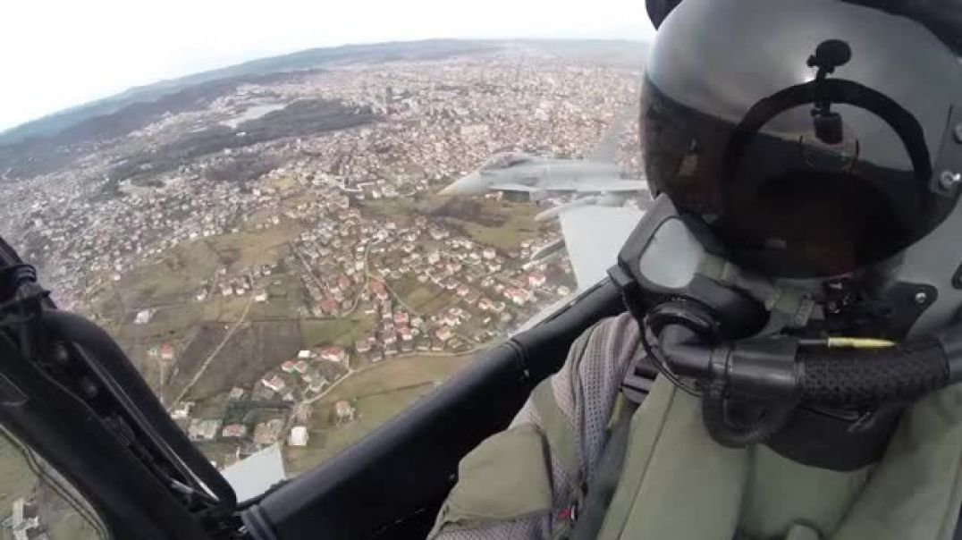 Watch this yesterdays flyby over Tirana viewed from the pilot cockpit insi