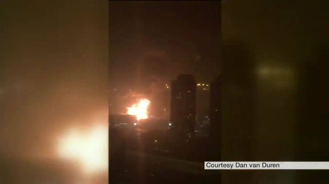 Tianjin explosion video captures fear of eyewitnesses - BBC News.mp4