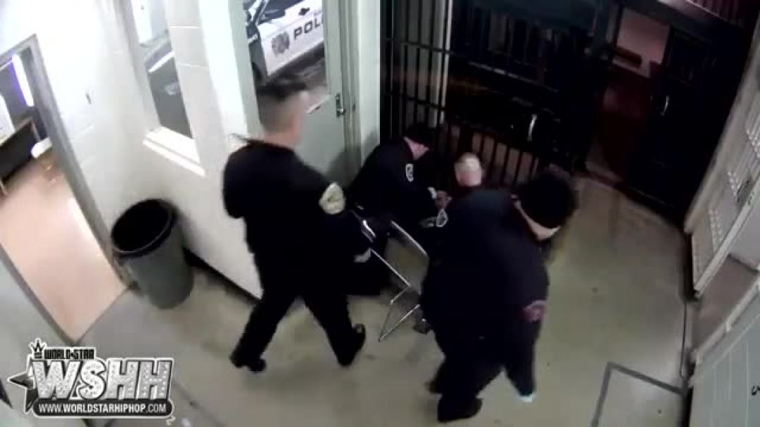 Two Indiana Officers Charged After They Beat Up A Handcuffed Suspect Who Spit At Them!.mp4