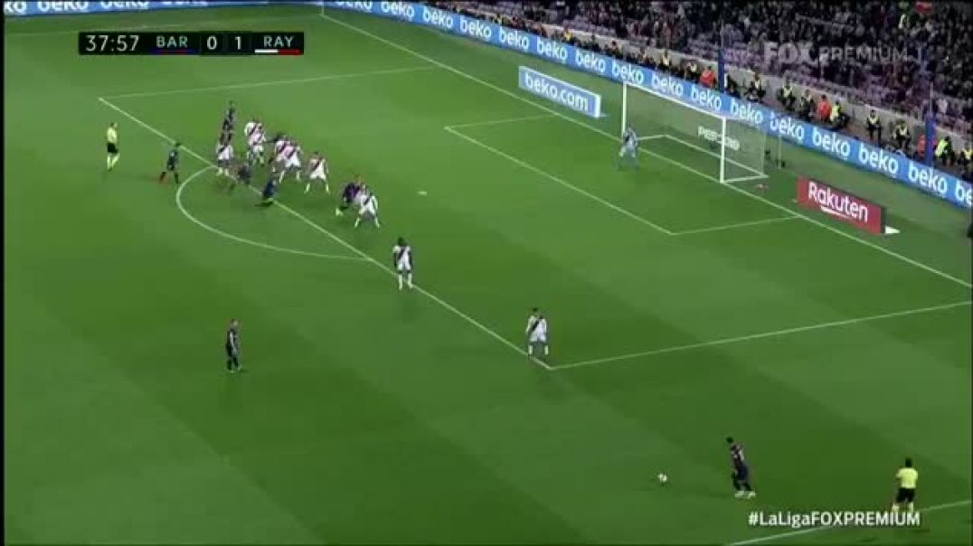 Barcelona 1 x 1 Rayo Vallecano - Gol do Pique  LaLiga 2019.mp4