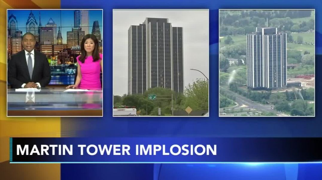 Defunct Bethlehem Steel's 21-story HQ, Martin Tower, imploded (1).mp4