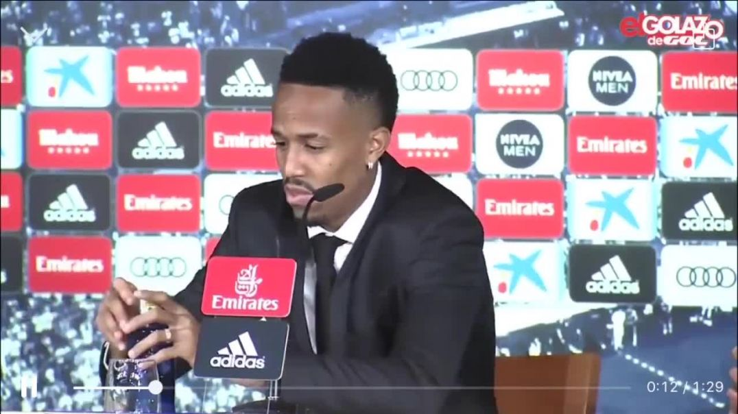 Eder Militao Leaves His First Real Madrid Press Conference !!!.mp4