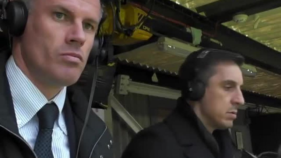 Gary Neville and Jamie Carragher react to both goals at Old Trafford!   Who w.mp4