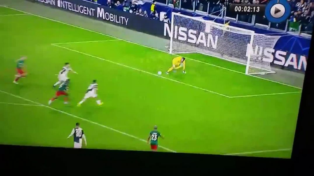 Ronaldo is rasing his hand for offside just because dybala scored