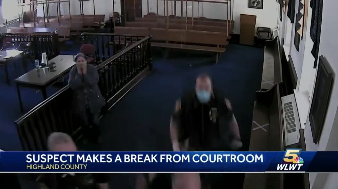 Suspect escapes courthouse during sentencing; officer injured.mp4