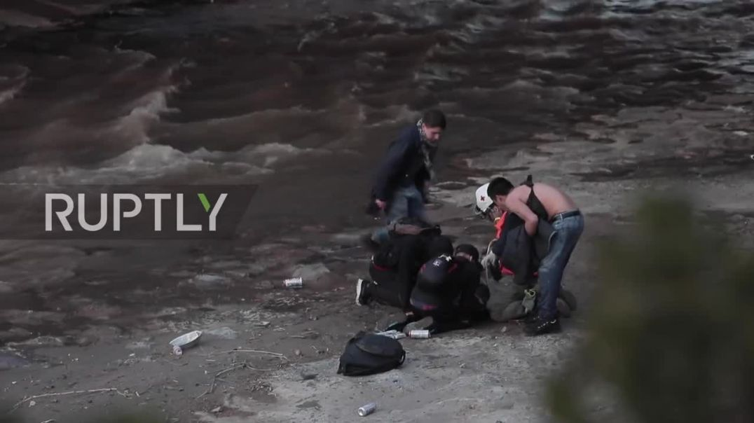 Chile_ Teen allegedly pushed by police into river amid Santiago protests
