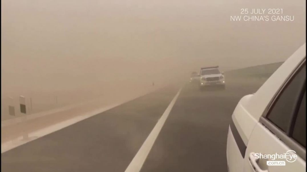 Heavy sandstorm engulfs NW Chinas Dunhuang, where Mogao Caves are located