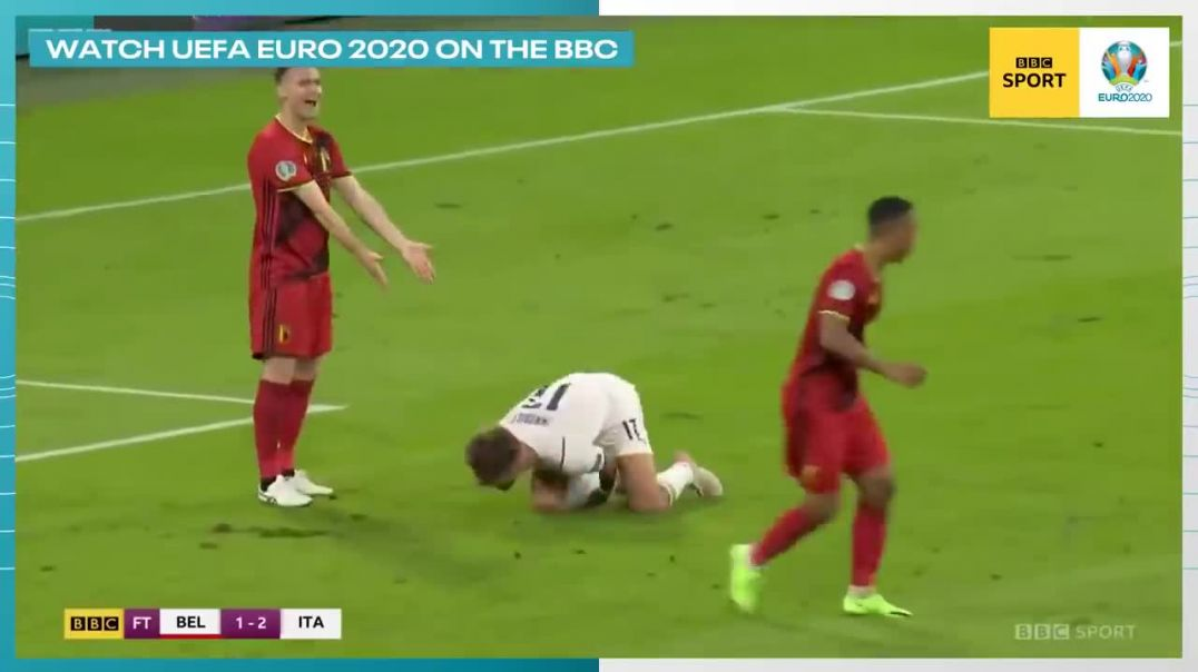 Immobile Faking Injury And Miracle Recovery When Team Scores _ EURO 2020 Italy 2-1 Belgium.mp4