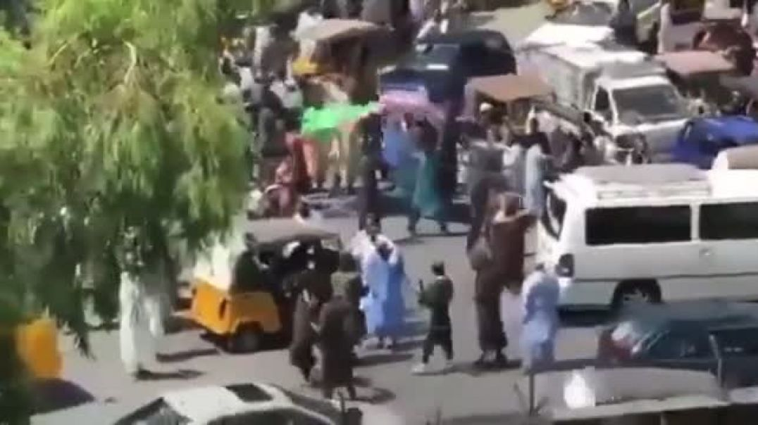 BREAKING Taliban fires at Afghan locals in Jalalabad city of Afghanistan after the crowd